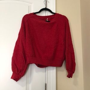 Free people red sweatshirt, size xs